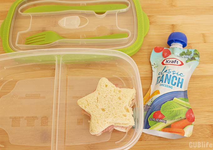 Space Adventures Lunch- Star Sandwich- Ranch Dressing