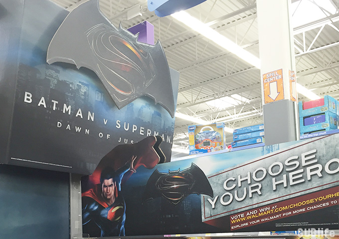 batman v superman at walmart-chooseyourhero