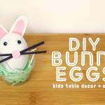 DIY BUNNY EGGS: Easter Table Decor + Craft