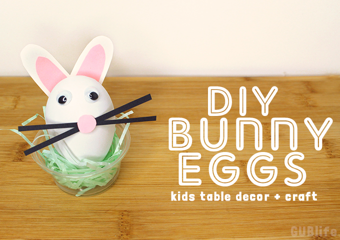 diy bunny eggs-kids table decor craft