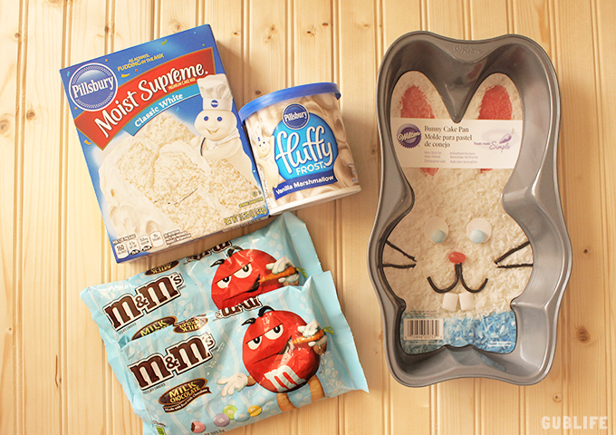 easter baking bunny cake supplies