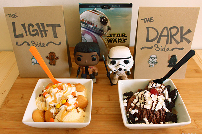 Star Wars Sundae Party- Light side Dark Side