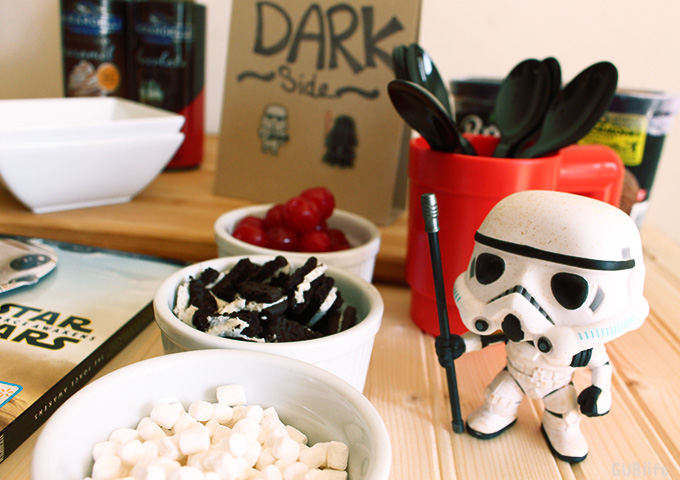 Star Wars Sundae Viewing Party  Dark Side Sundae Toppings
