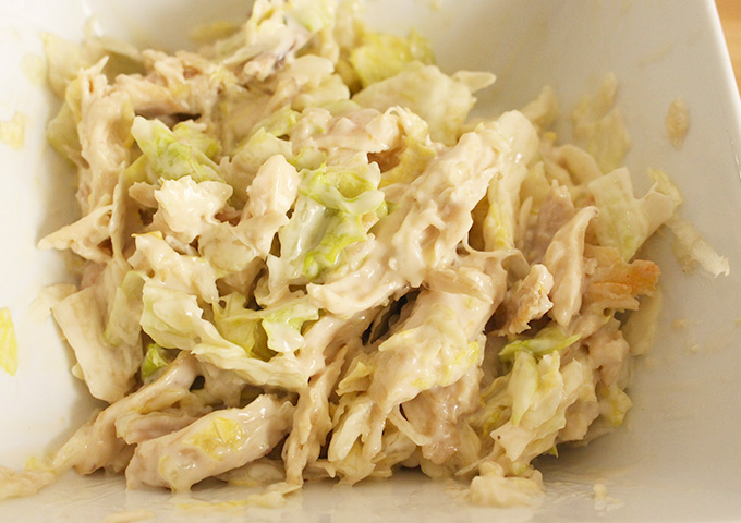chicken caesar salad- leftover lunch made easy