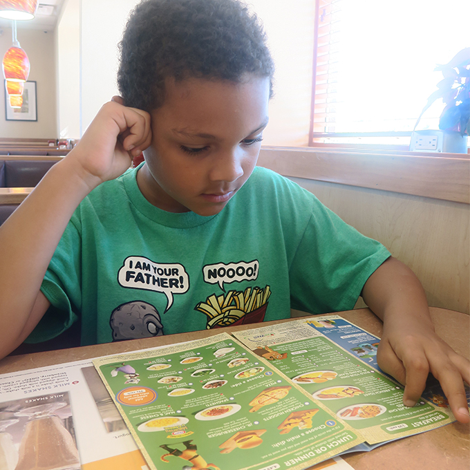kids eat free tuesdays at dennys diner
