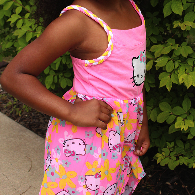 7b3036fe4 When it comes to my girl's style she likes comfy, cute, bright, and HELLO  KITTY dresses!