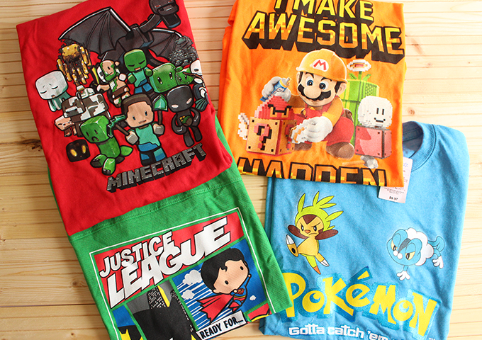 BACK TO SCHOOL GRAPHIC TEES-WALMART