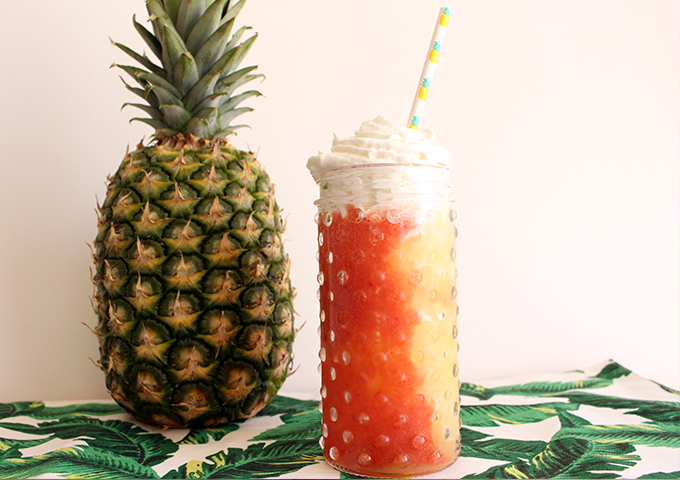 Pineapple Strawberry Slush