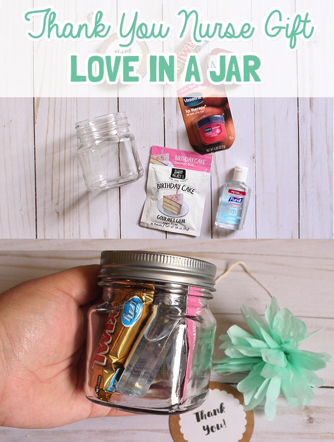 Thank You Nurse Gift- Love in a Jar