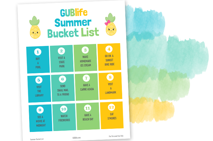 GUBLIFE-SUMMER-BUCKET-LIST